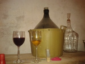 Wine made in the traditional way in small cellars.
