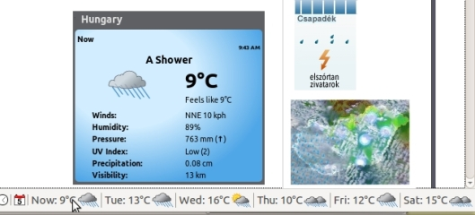 Weather Widget in Firefox