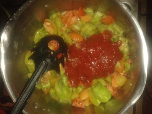 A bit of tomato paste.